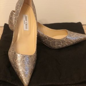 Jimmy Choo Sparkle Pumps Leopard and Silver